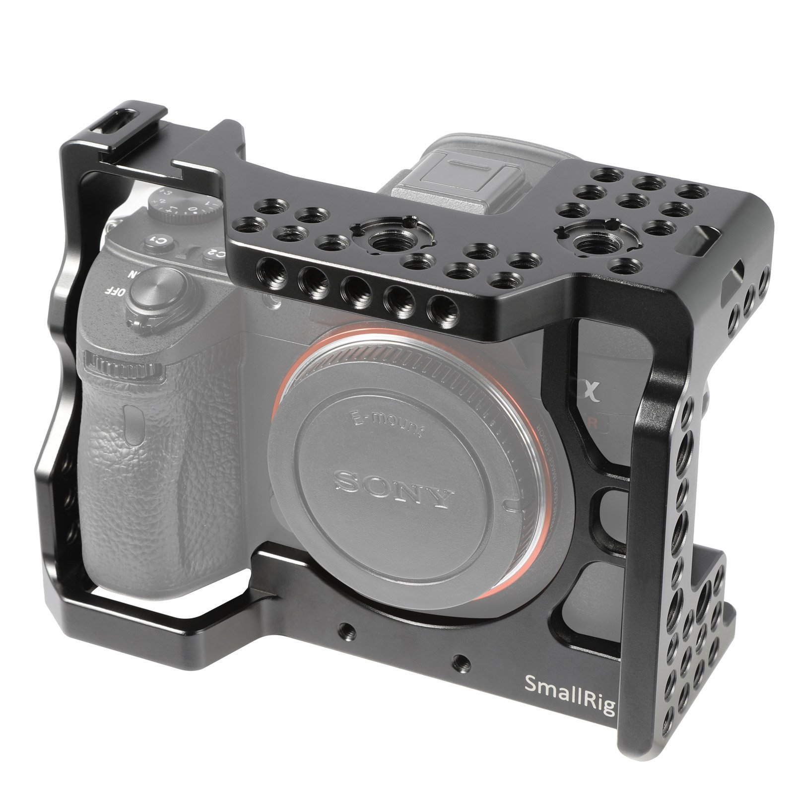 SmallRig A7RIII / A7III Cage for Sony A7RIII / A7III Camera (ILCE-7RM3 / a7R Mark III ) with Cold Shoe, Locating Pins - 2087