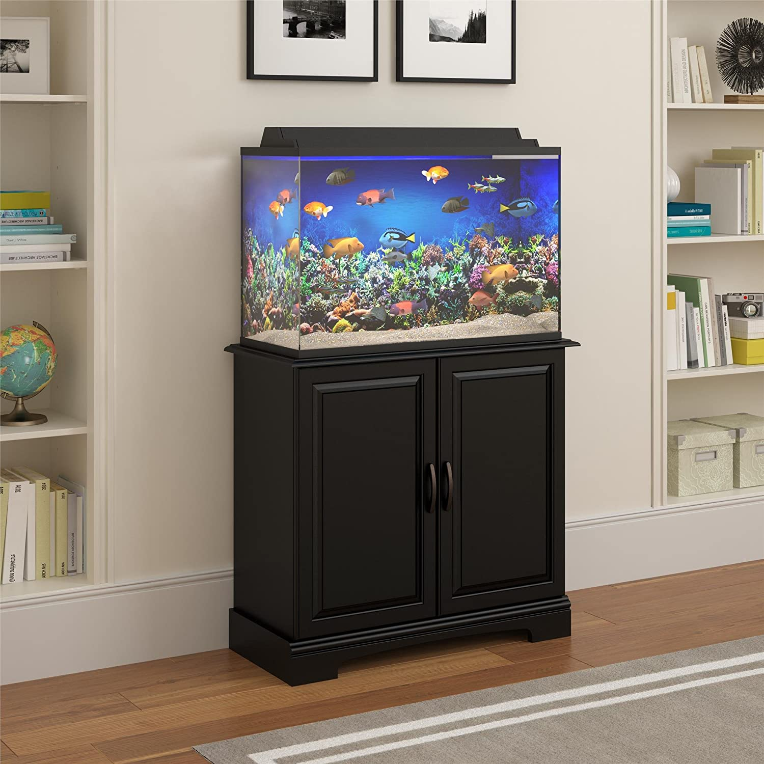 Amazon Ameriwood Home Harbor 50 75 Gallon Aquarium Stand