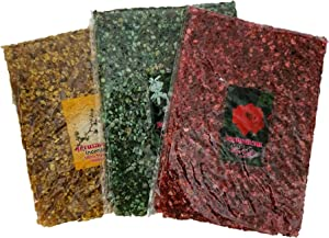 Jerusalem Myrrh Rose and Jasmin Incense Set of 3 Aromatic Resin of The Holy Land 3.5 oz / 100 g Each