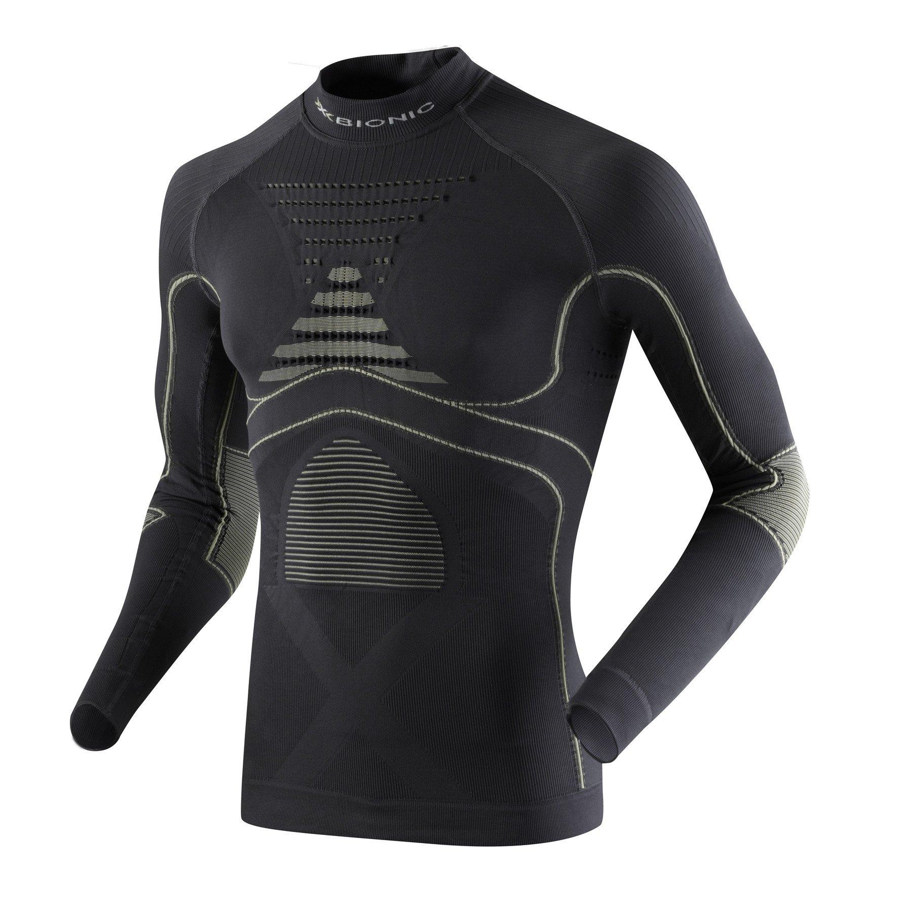 c18342db63 X-Bionic Accumulator ® EVO Energy Camiseta Larga Sleeves Turtle Neck Men  (Charcoal Grey) Pearl
