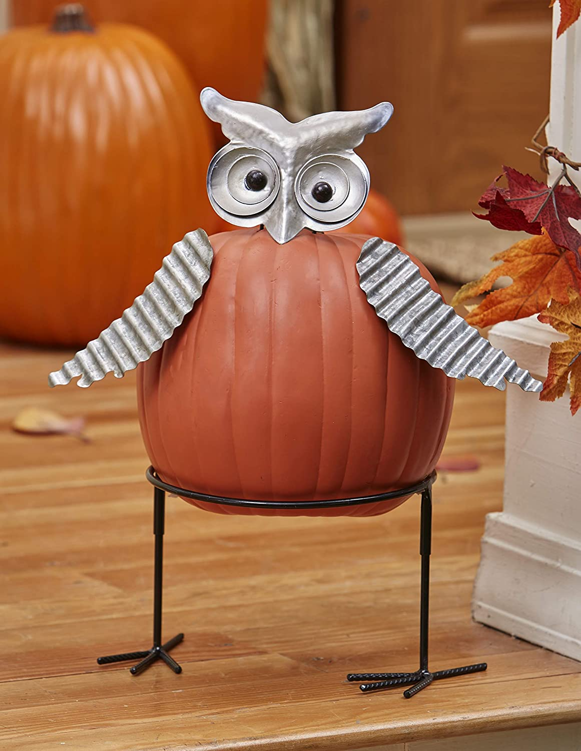 Lakeside Collection Halloween Carve-Free Pumpkin Stakes - Owl