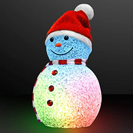 Light Up Snowman Christmas Decoration 20cm