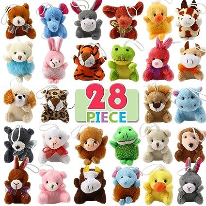 Amazon.com: Juego de juguetes de peluche de 28 piezas con ...