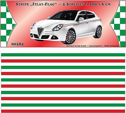 Carstyling Xxl Italy Stripe Streifen Italien Design 5 M X 60 Mm Schneller Versand Innerhalb 24 Stunden Auto