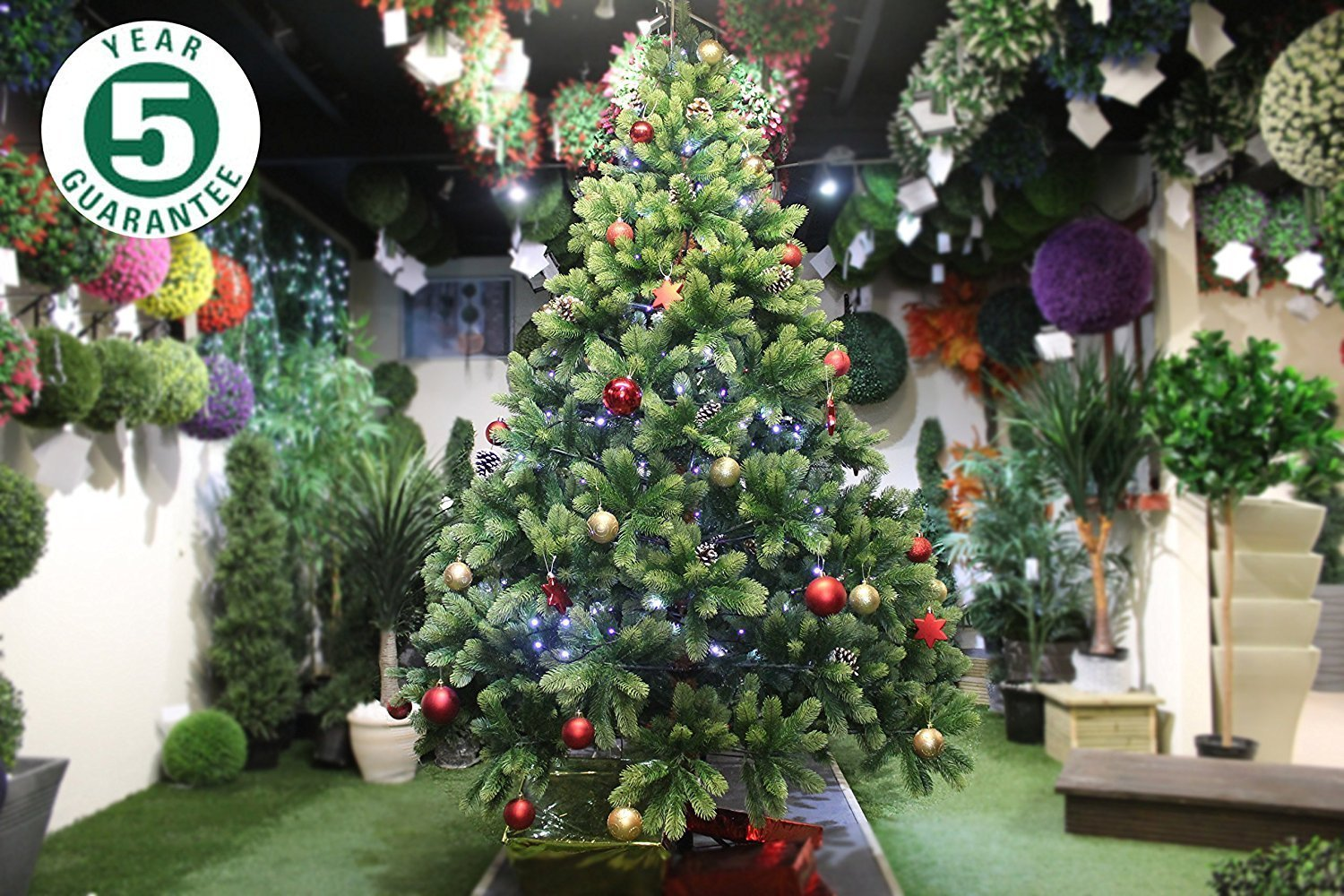 Real Indoor Trees Part - 19: Best Artificial (TM) 7ft Premium Real Feel Hinged Christmas Tree With 1690  100% PE Spruce Tips For Indoor Xmas 5 Year Guarantee: Amazon.co.uk: Kitchen  U0026 ...
