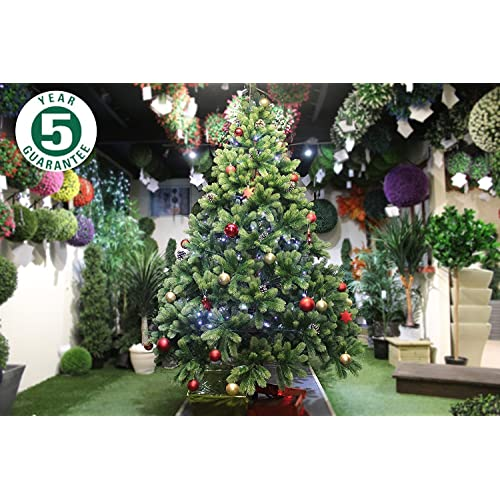 best artificial tm 7ft premium real feel hinged christmas tree with 1690 100