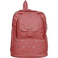 GARIB NAWAZ BAGS Women's Canvas 10 L Peach Backpack