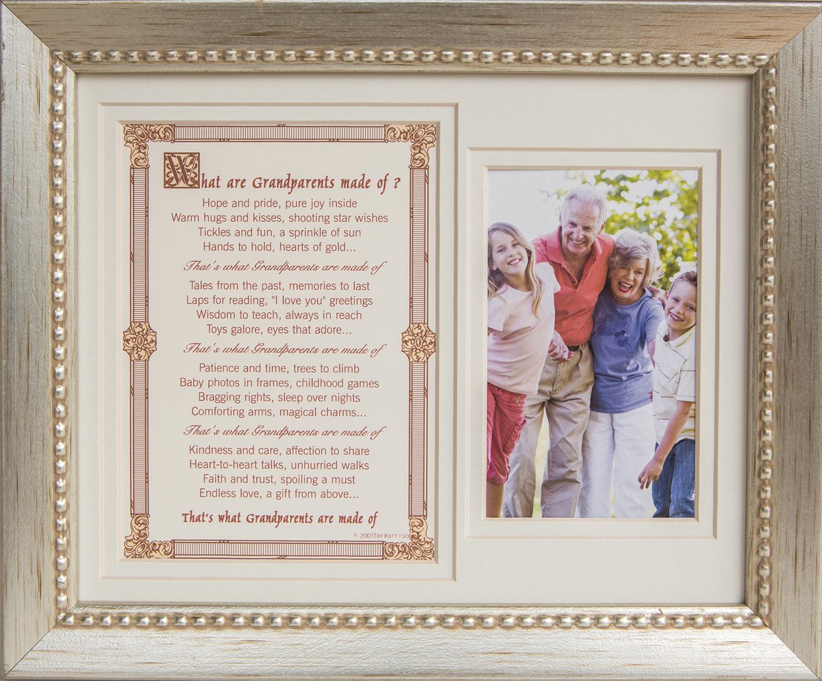 The Grandparent Gift Frame, What are Grandparents made of Photo Frame with Sentiment The Grandparent Gift Co. 4074