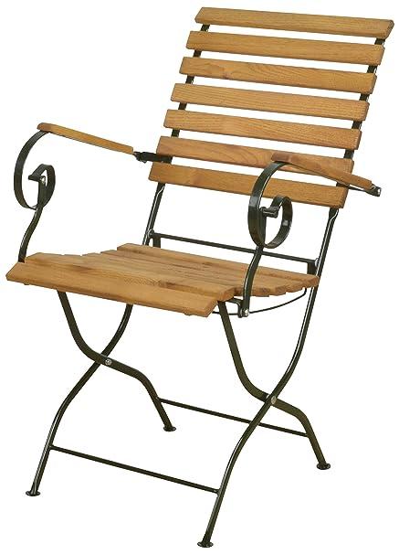 80 x 40 x 70 cm Esschert Halbrunder Tisch aus Metall