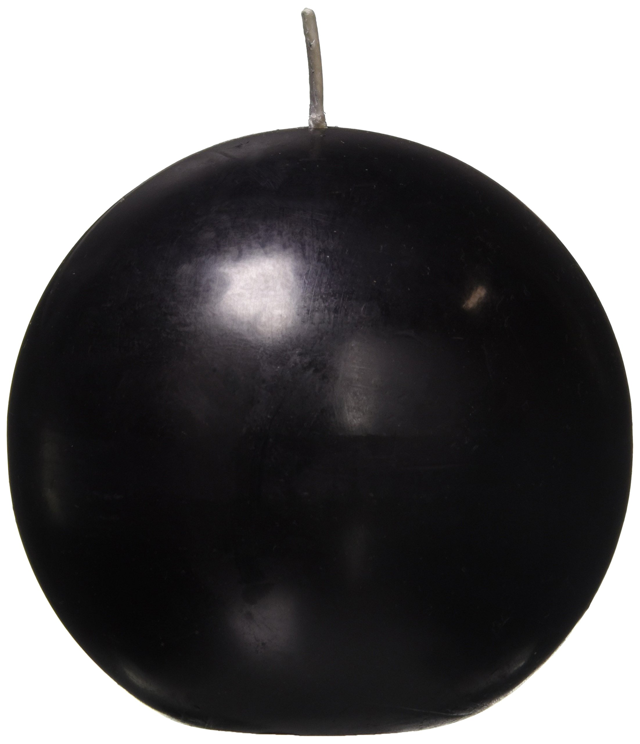 Zest Candle 2-Piece Ball Candles, 4-Inch, Black by Zest Candle