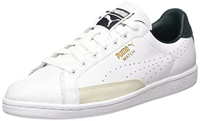the latest 0deea df3b9 Puma Match 74 UPC, Baskets Mode Mixte Adulte, Blanc (White-Green Gables