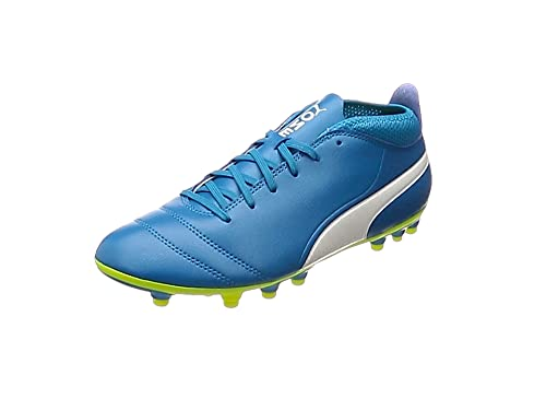 Puma Unisex-Kinder One 17.3 FG Jr Fußballschuhe, Blau (Atomic Blue-White-Safety Yellow), 35 EU