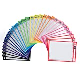 Dry Erase Pockets - 30 Pack Reusable Clear