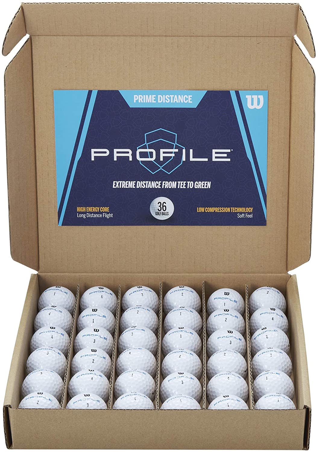Wilson Prime Distance Golf Balls (Pack of 36)