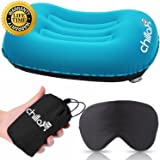 ChillaX UltraLight Camping Pillow - Compressible, Compact, Inflatable, Comfortable, Ergonomic Pillow for Neck & Lumbar Support and a Good Night Sleep while Camp, Backpacking