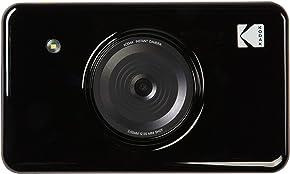KODAK Mini Shot Wireless Instant Digital Camera & Social Media Portable Photo Printer, LCD Display, Premium Quality Full Color Prints, Compatible w/iOS & Android (Black)