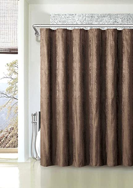 Rosewood Heavy Jacquard Shower Curtains By Victoria Classics