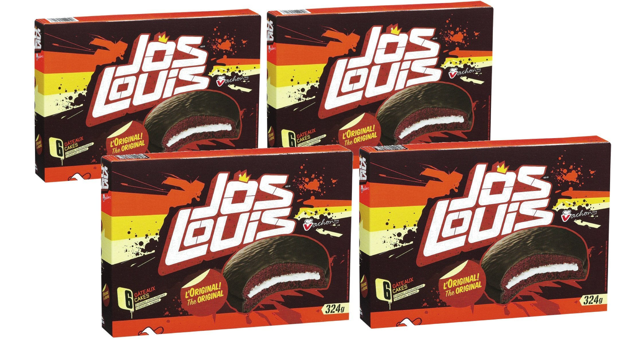 Vachon original JOS LOUIS cakes pack of 4 {Imported from Canada} by VACHON