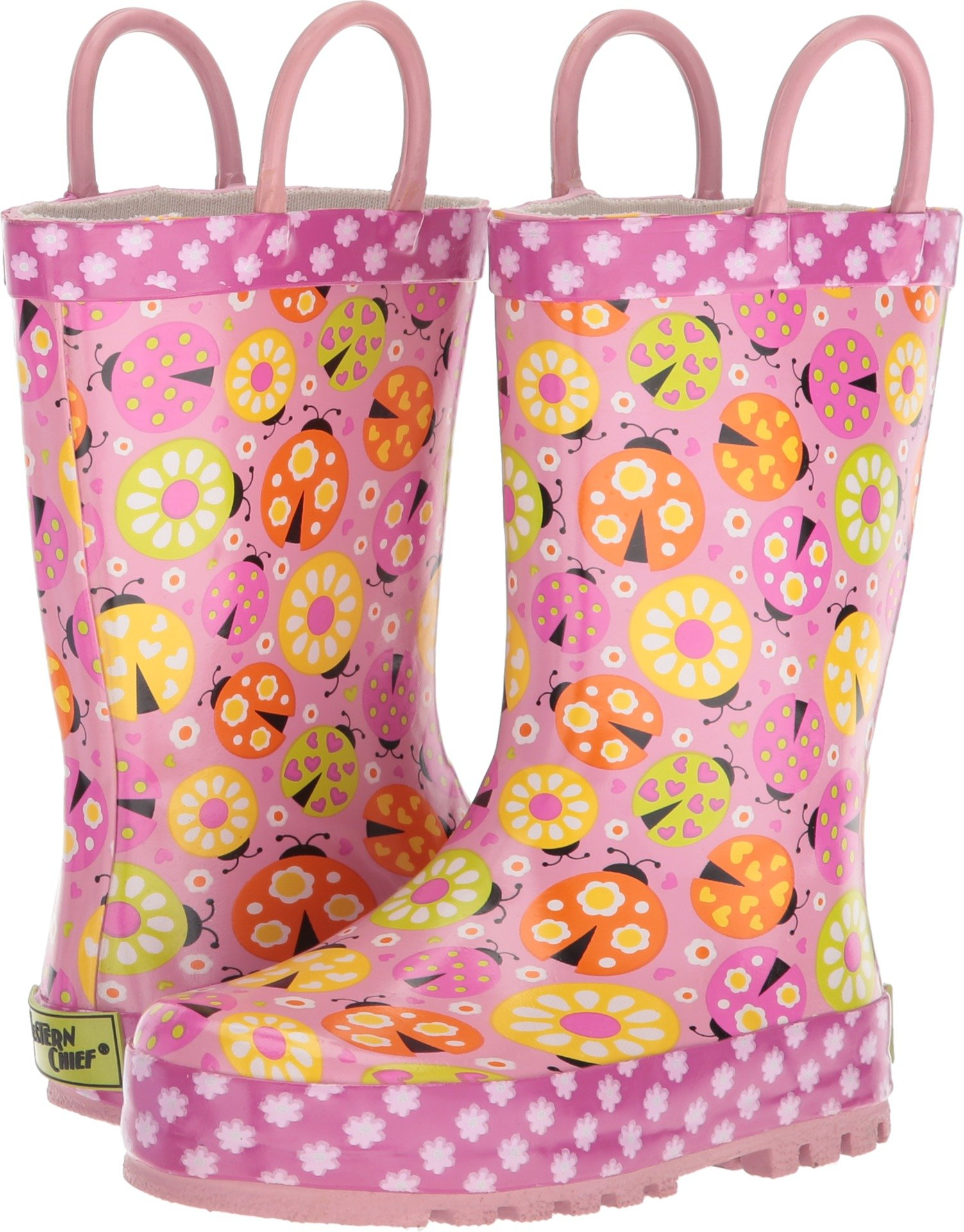 Western Chief Kids Ladybug Garden Rain Boot Pink 12 by Western Chief (Image #1)