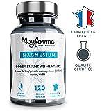 Magnésium végétal : Bisglycinate de Magnésium hautement dosé 1500mg(D/J)+ Vitamines B6. Effet non laxatif.120 gélules végétales sans titane, sans gluten, sans lactose, sans OGM. Fabriqué en France