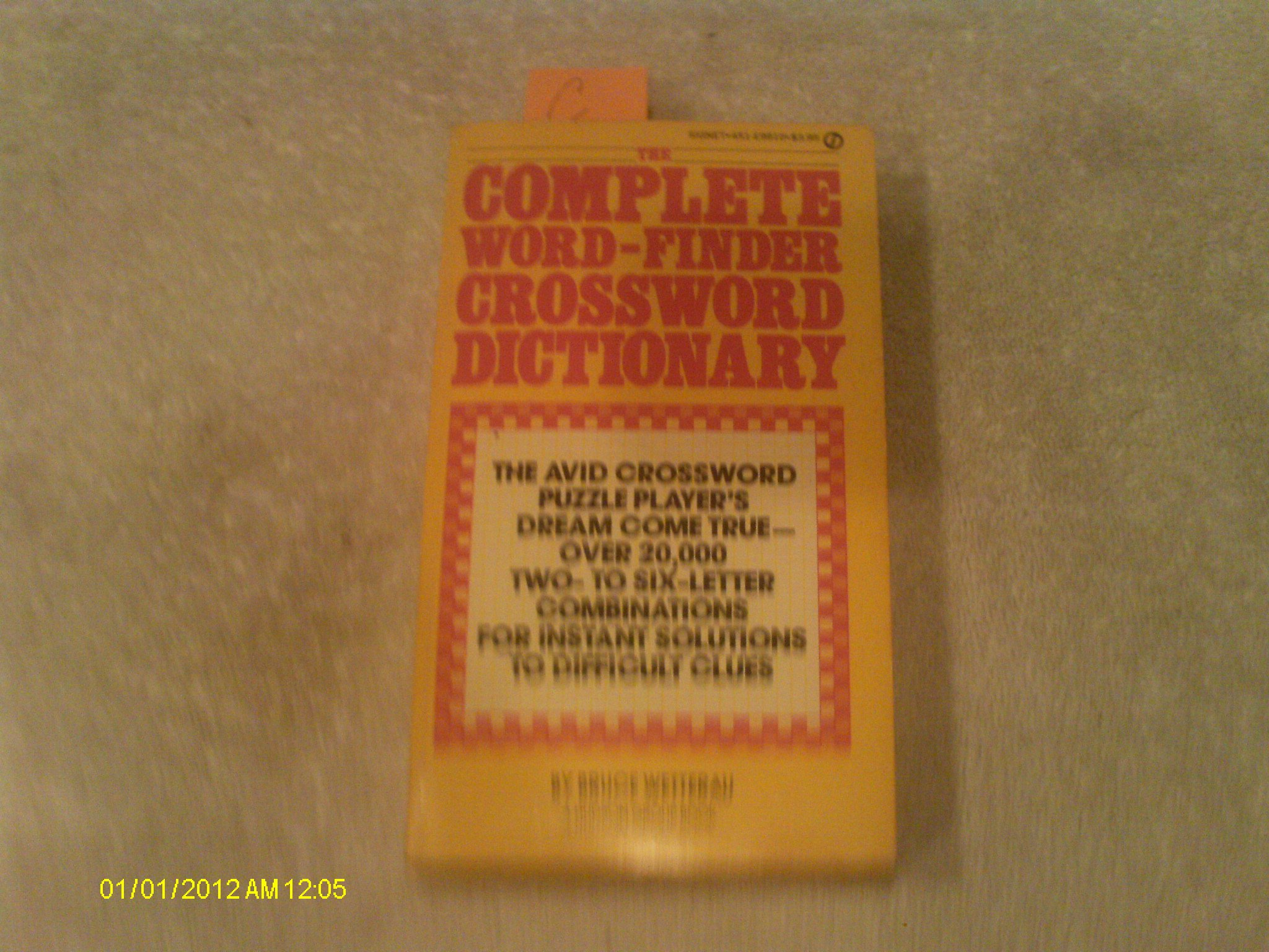 Complete Word-finder Crossword Dictionary (Signet Books): Amazon co