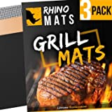 BBQ Grill Mats (Set of 3) Copper, Black & Mesh | LIFETIME Replacement | Heavy Duty 600 Degree Non-Stick Mats | Mesh for Smoke Flavors & Gas Grills | 15.75 x 13 | Best Rated Grill Pad FDA Gold Approved