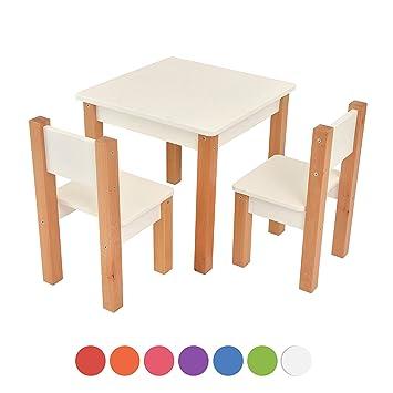 Kindertisch Mit Stuhle 3 Tlg Set Sitzgruppe Fur Kinder Weiss