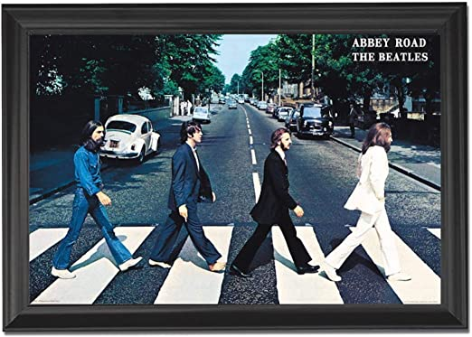 THE BEATLES ABBEY ROAD RETRO CANVAS PRINT PICTURE WALL ART VARIETY OF SIZES