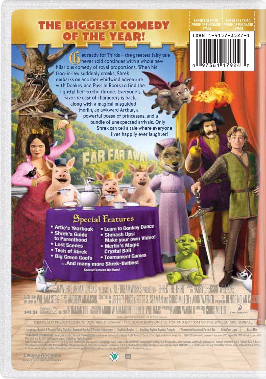 Amazon Com Shrek The Third Widescreen Edition Eddie Murphy Justin Timberlake Antonio Banderas Cameron Diaz Mike Myers Movies Tv