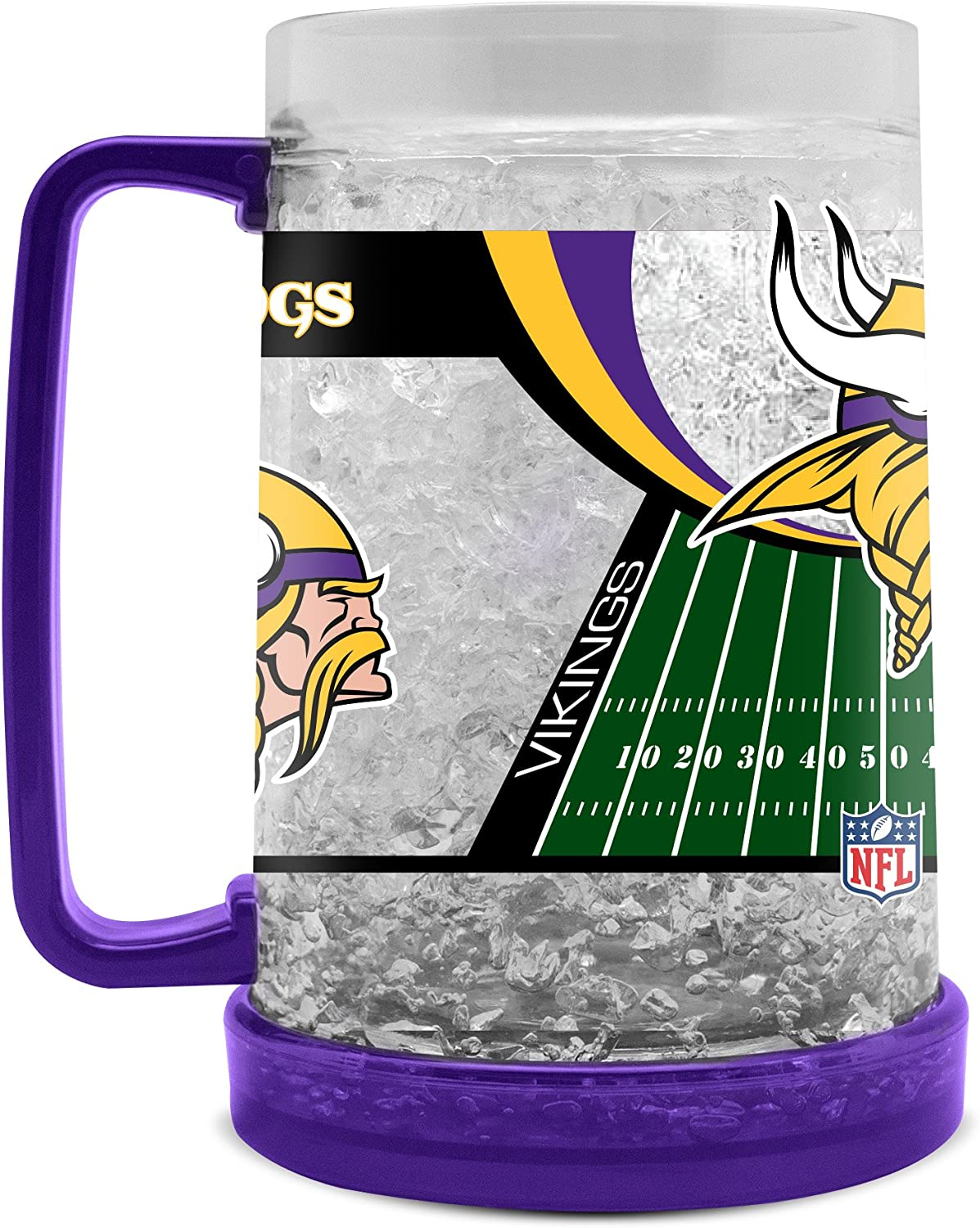 NFL Minnesota Vikings 16oz Crystal Freezer Mug
