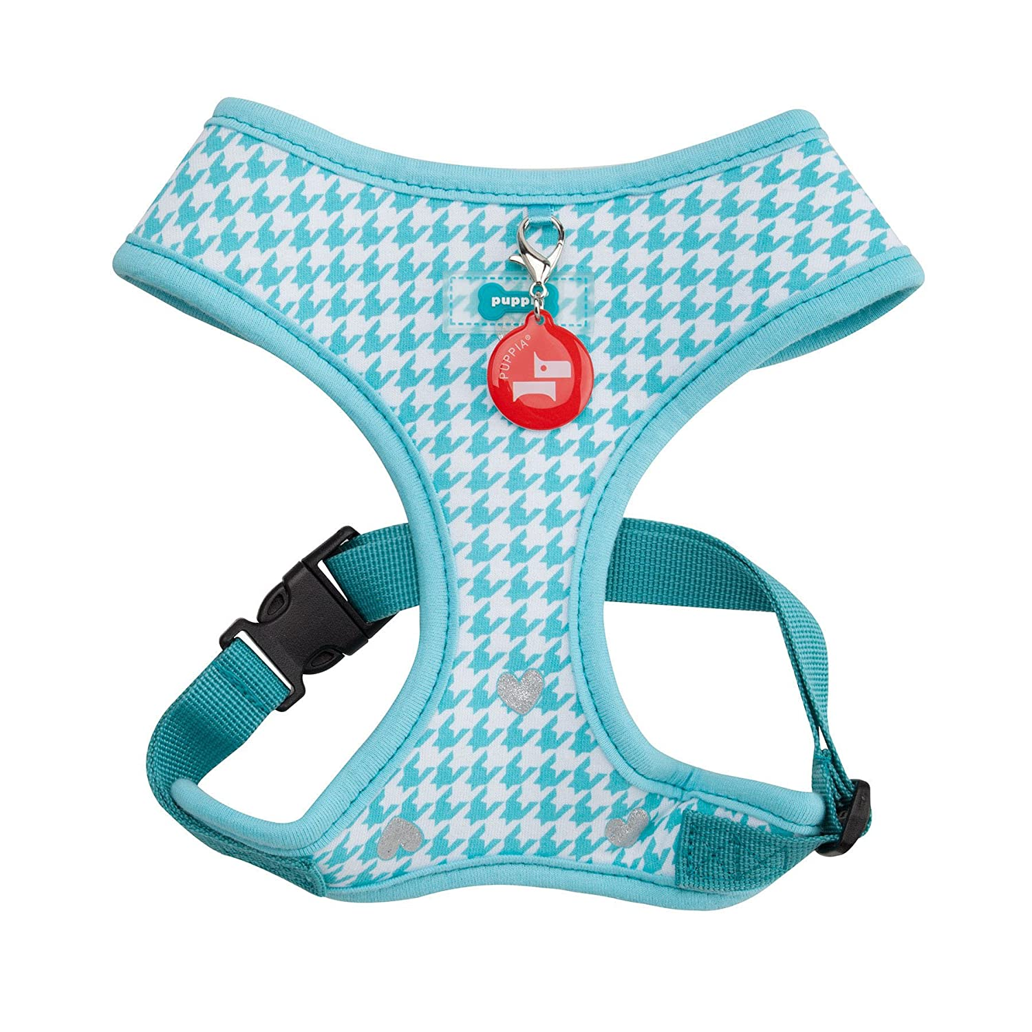 Aqua Large Aqua Large Puppia Authentic Aggie Harness A, Large, Aqua