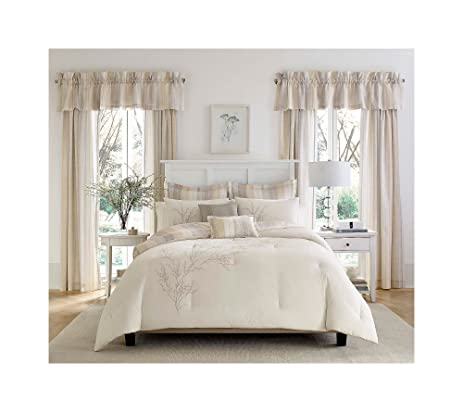 Laura Ashley 7 Pc Natural Willow Comforter Set Twin