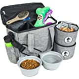 Top Dog Travel Bag - Airline Approved Travel Set for Dogs Stores All Your Dog Accessories - Includes Travel Bag, 2X Food Stor