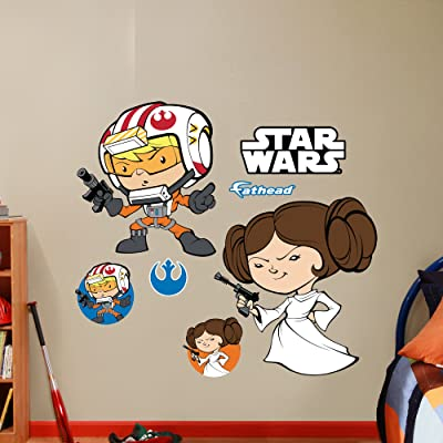 Luke Skywalker & Princess Leia POP wall decals