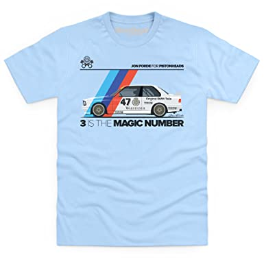 3e8466cf2b01f Jon Forde 3 is The Magic Number T-Shirt, pour Homme, Bleu Ciel, M ...