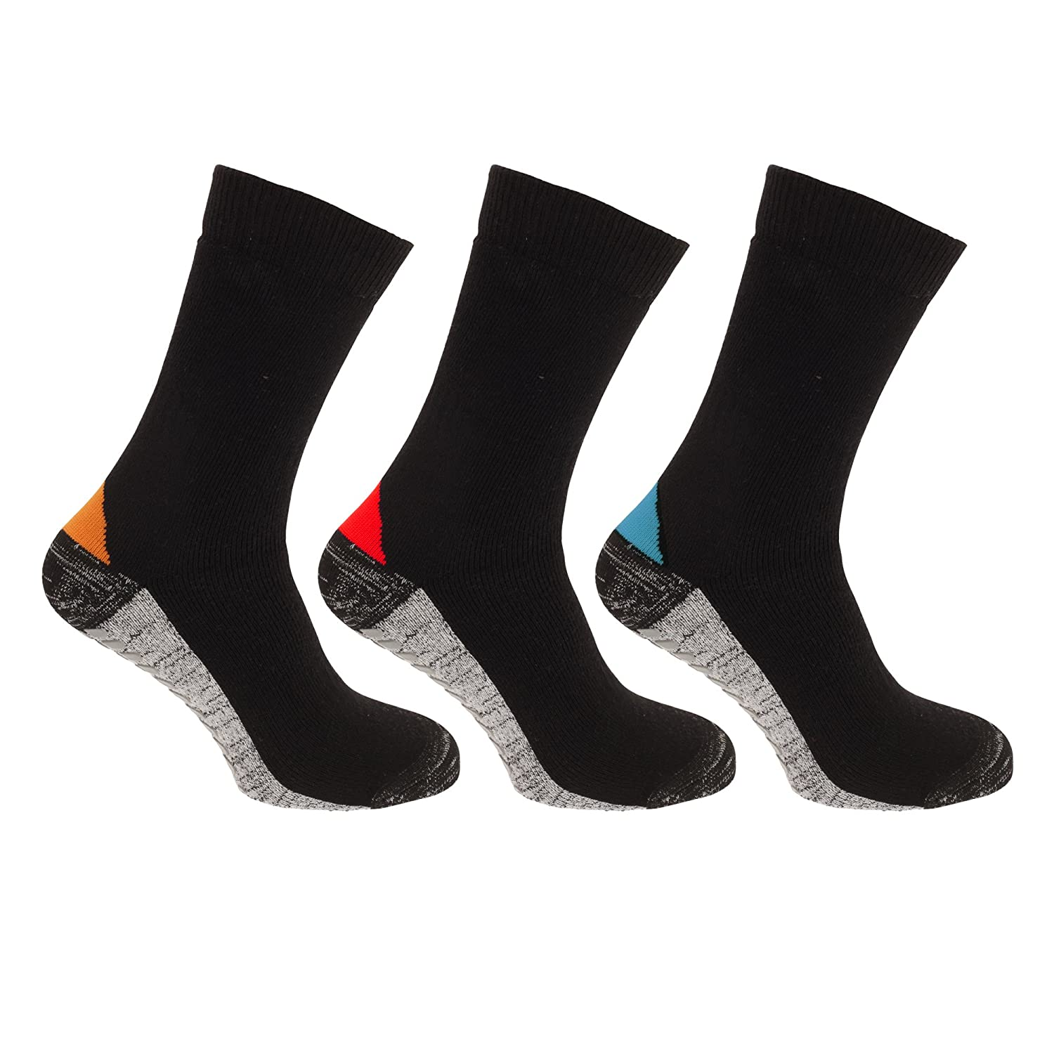 Mens Self-Heating Work Socks With Tourmaline Mineral Sole (Pack Of 3)