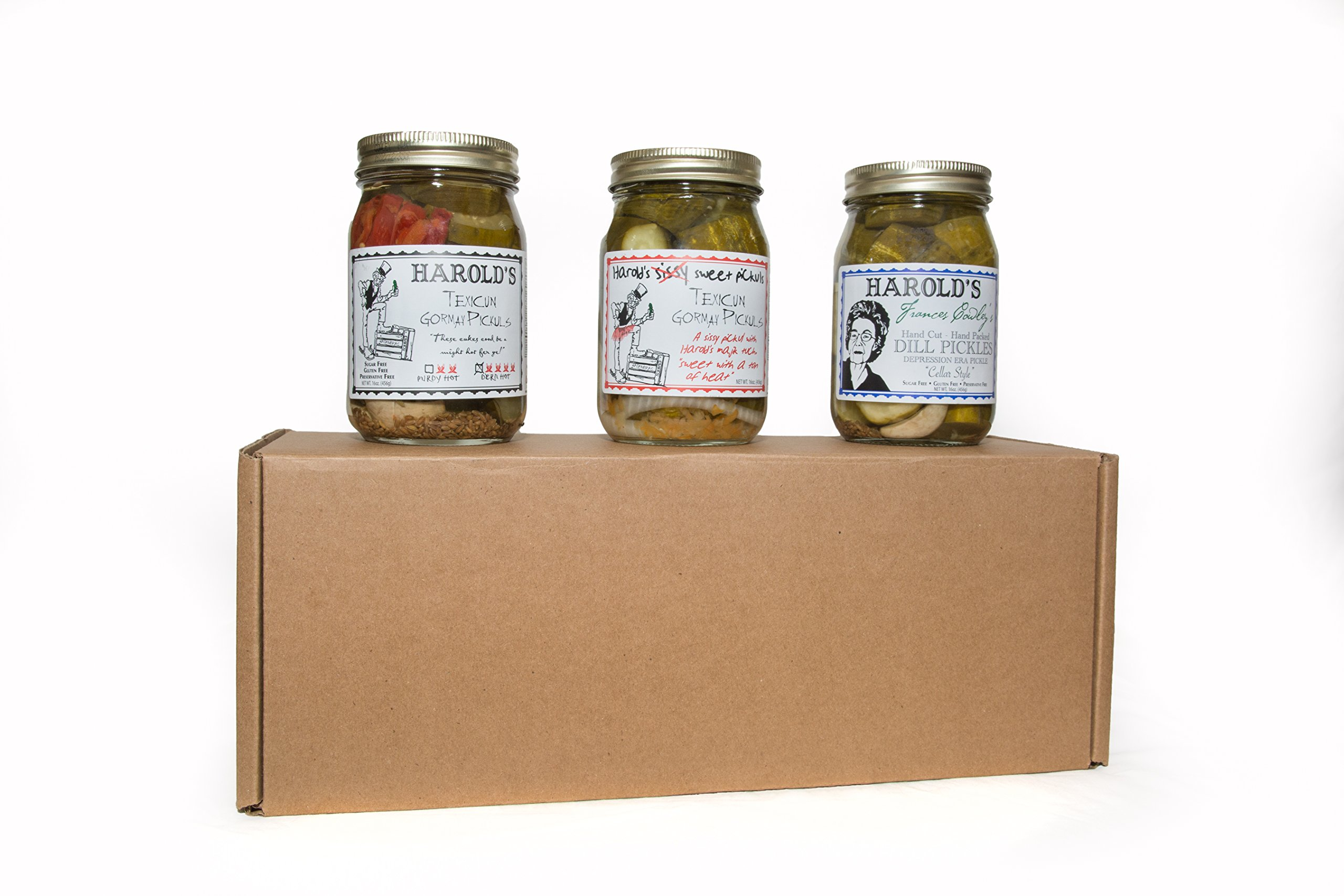 Gourmet Pickle Gift Pack 1 pint each Frances Cowley, Sissy Sweet and Purdy Hot