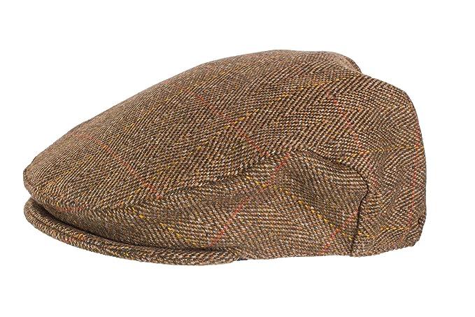 Gorra chata de tweed escocés de gran calidad, recubierta de teflón, para caza y aire libre: Amazon.es: Ropa y accesorios