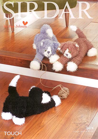 Amazon Sirdar 2474 Knitting Pattern Toy Cats To Knit In Sirdar