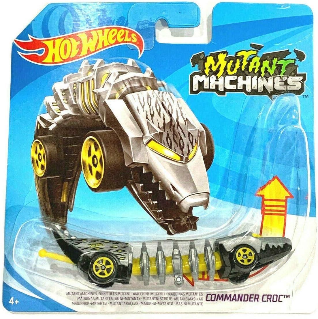 Gray//Yellow CommanderCroc DieCast Hotwheels 2020 Mutant Machines