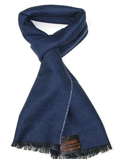 LOVARZI Écharpe en laine pour homme et femme Bleu Écharpes en laine fine  mérinos pour homme femme  Amazon.fr  Vêtements et accessoires c8015646633