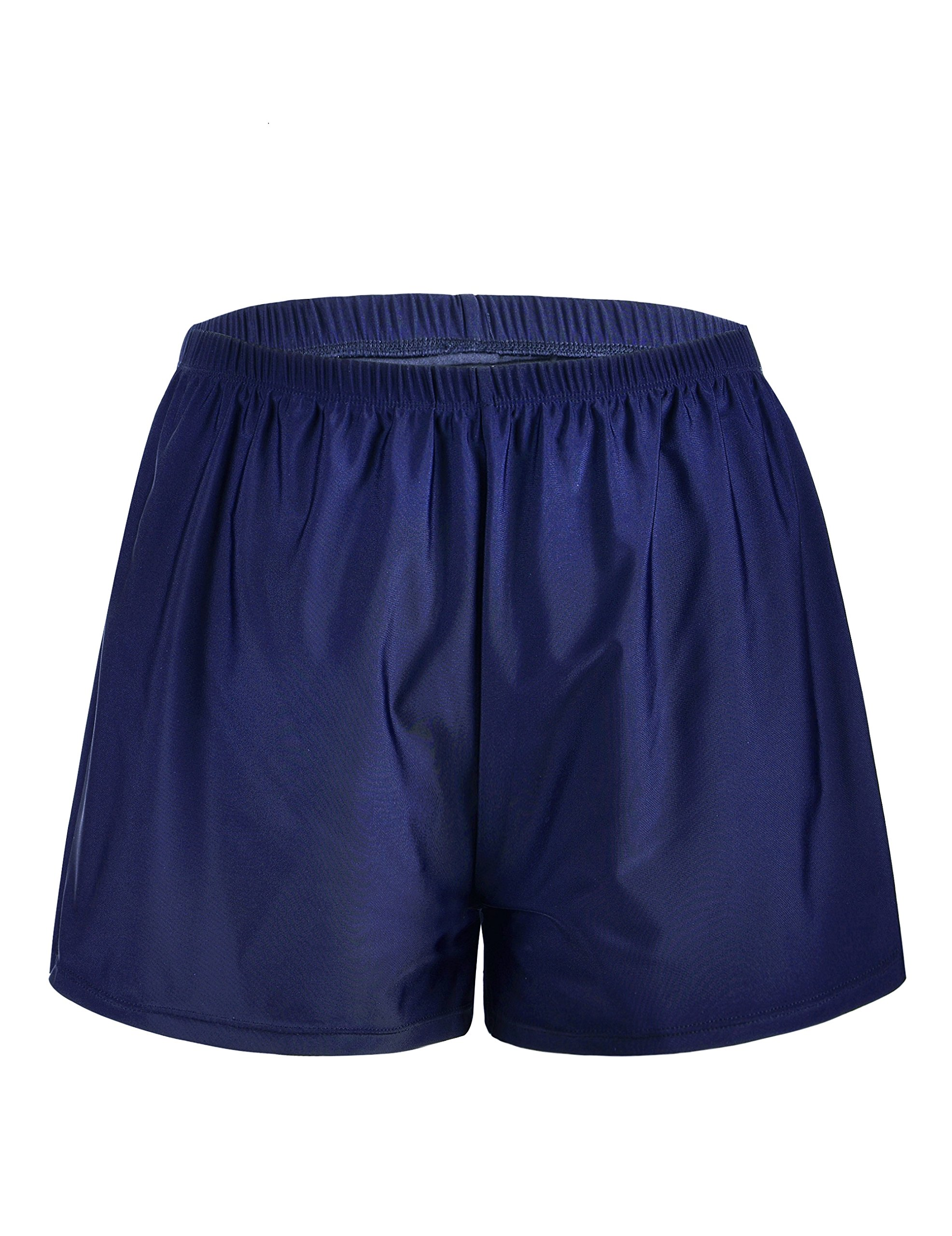4bc09739fa Mycoco Women's Swim Shorts Loose Boyshort Swimsuit Bottom Boardshorts with  Brief Light Navy 26
