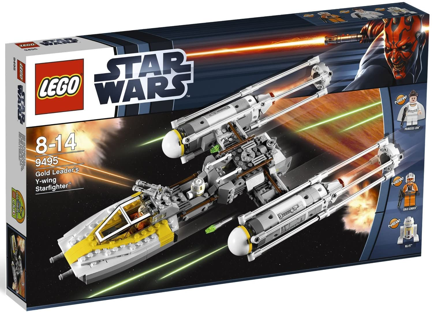 Amazon Com Lego Star Wars A New Hope Gold Leader S Y Wing Starfighter Set 9495 Toys Games
