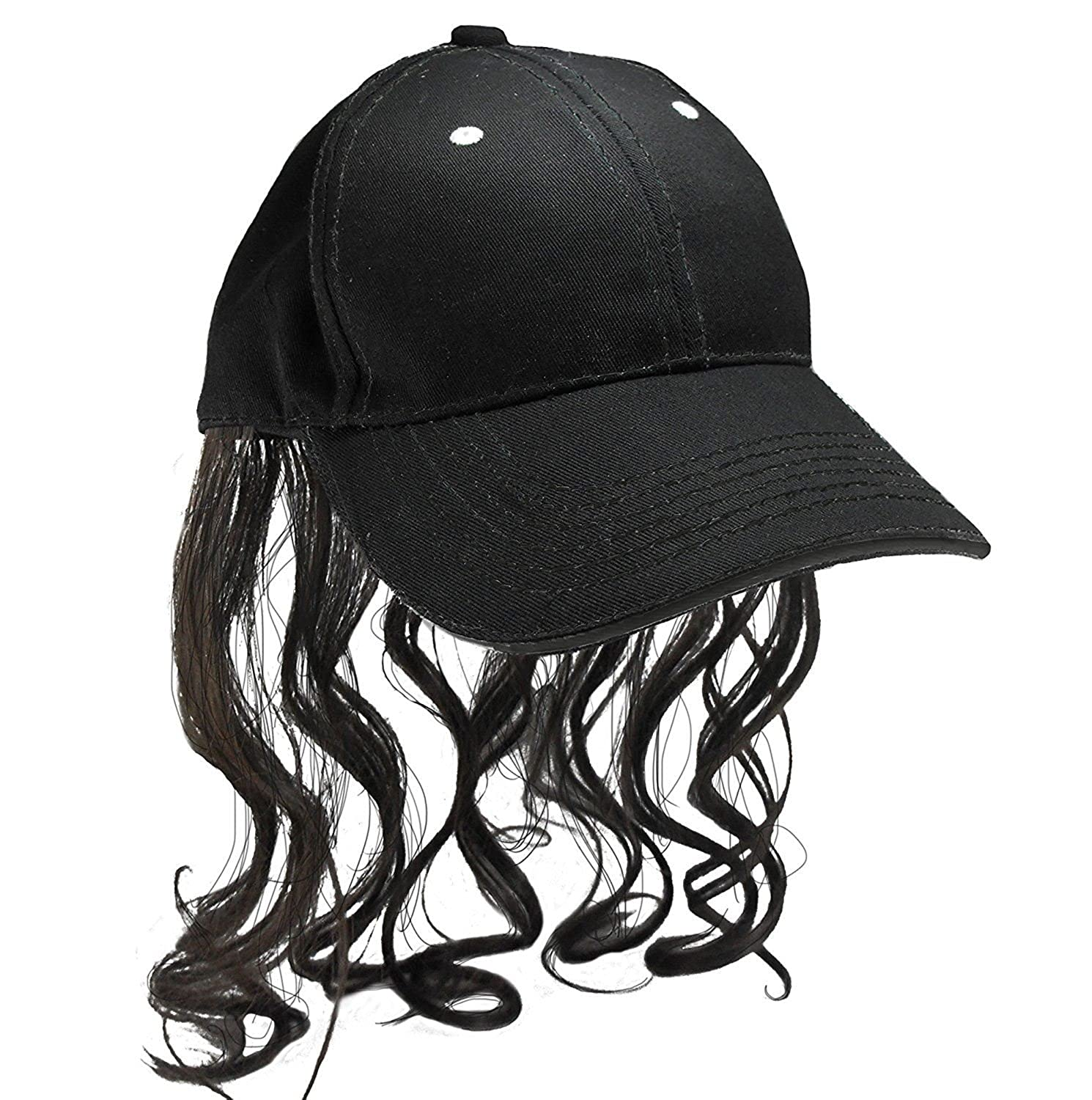 5708391ab19 Amazon.com  Hillbilly Mullet Cap With Sewn In Polyester Hair - Get Your  Redneck Style On  Clothing