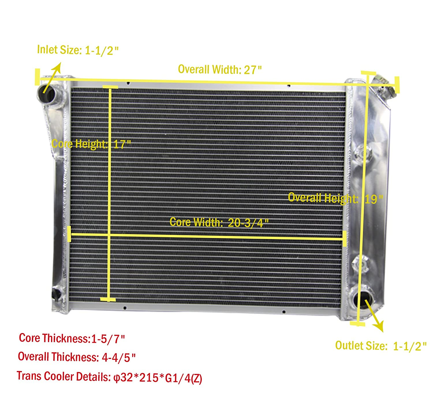 Severe Duty Cooling Radiator For 2009-2010 Dodge Charger 3.5L//6.1L