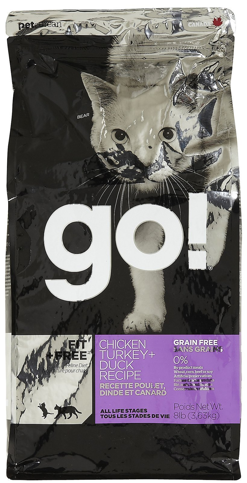 Go! Fit + Free Grain Free Chicken, Turkey & Duck - 8 lb by On The Go