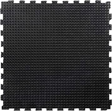 Fall Protection Floor Mats for Playground 40mm Thick 50x50cm Rubber Floor Tiles Gym Flooring Rubber Matting Blue etm Home Gym Mat 1 Pack