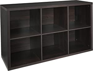 ClosetMaid 4109 Decorative 6-Cube Storage Organizer, Black Walnut