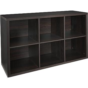 ClosetMaid 4109 Decorative 6 Cube Storage Organizer, Black Walnut
