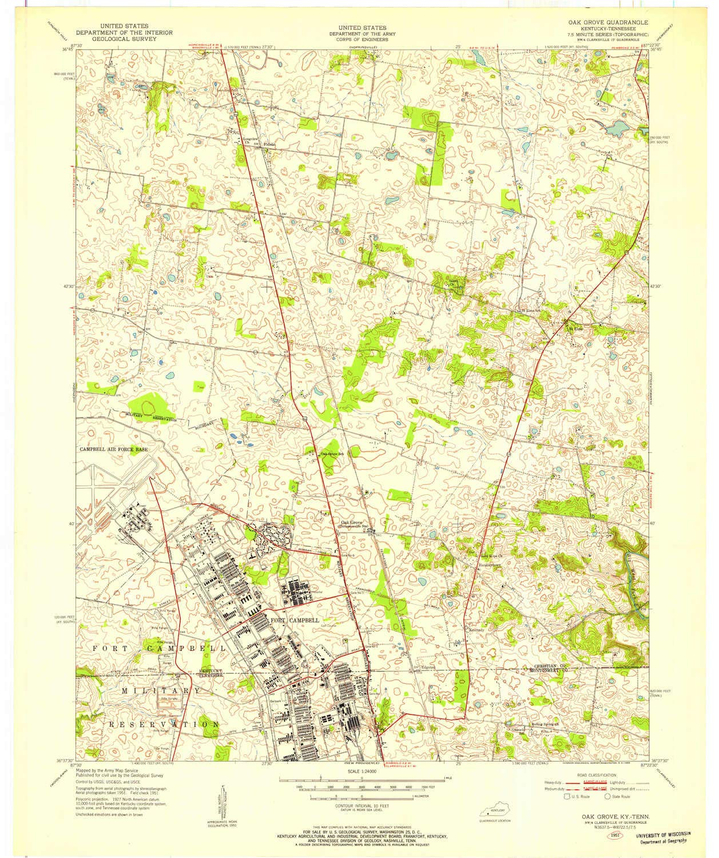 Amazon.com : YellowMaps Oak Grove KY topo map, 1:24000 Scale ...